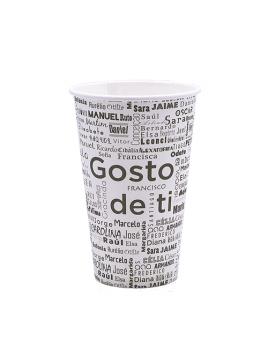 """COPO """"GOSTO DE TI"""" 12OZ / 35CL CARTÃO / PAPEL"""