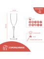 COPO FLUTE / CHAMPANHE / ESPUMANTE 15CL PC