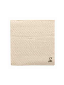 GUARDANAPOS ECOLABEL NATURAL TISSUE RECICLADO / 1 FOLHA / 33x33CM