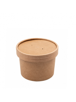 RECIPIENTE NATURAL KRAFT COM TAMPA / 240ML