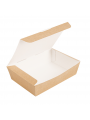"""CAIXAS """"LUNCH BOX"""" 20,5x14,6x5 CM NATURAL CARTÃO ONDULADO NANO-MICRO"""